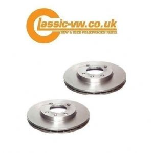 Front Brake Disc Set Vented 256mm (SRL) 321615301D Mk1 / 2 / 3 Golf, Caddy, Jetta, Scirocco